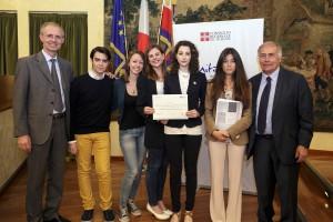 26 05 2016 cerimonia di premiazione dei vincitori del Progetto di Storia contemporanea. Nella foto: LICEO CLASSICO LINGUISTICO CARLO ALBERTO DI NOVARA